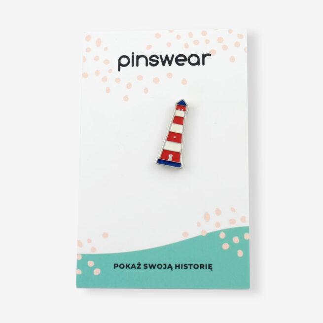 Przypinki metalowe z morskim motywem wakacyjnym latarnia morska od producenta pinów ręcznie emaliowanych od Pinswear