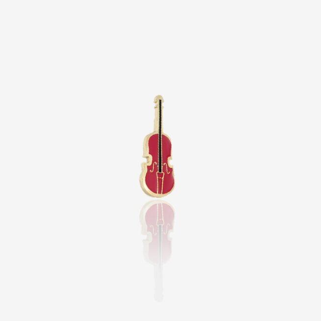 Przypinki metalowe ręcznie malowane skrzypce Violin od Polskiego producenta pinów od Pinswear