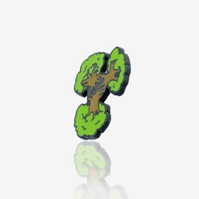 Ręcznie malowane przypinki metalowe drzewa boababu na zamówienie od Pinswear producenta emaliowanych pinów