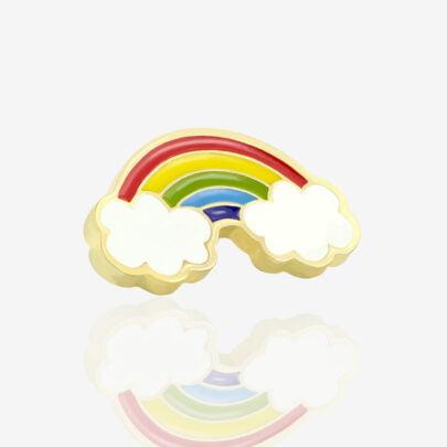 Pinsy metalowe tęcza w chmurach Rainbow, kolorowa tęcza z chmurami na końcu od producenta Pinswear