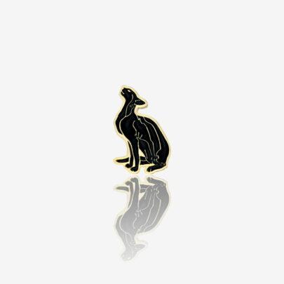 Ręcznie malowane przypinki na zamówienie czarny kot w paski od producenta metalowych pinów od pinswear