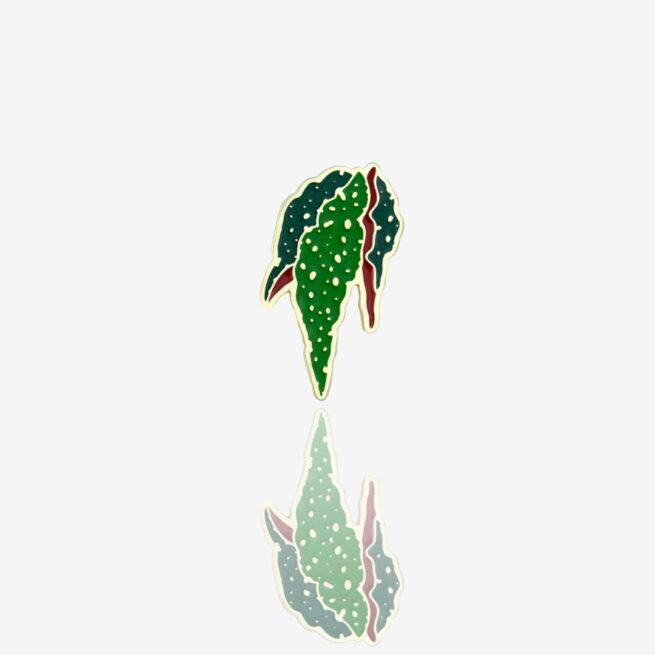 Przypinki metalowe w kształcie begoni koralowej, begonia maculata od producenta ręcznie malowanych pinów od Pinswear